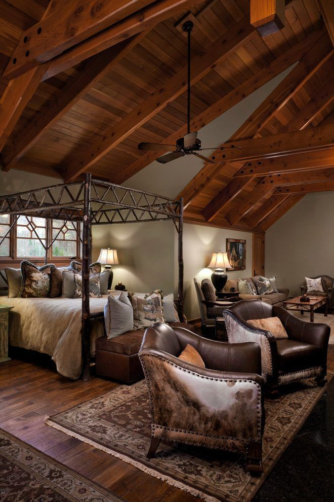 united states Vaulted Ceilings bedroom rustic with