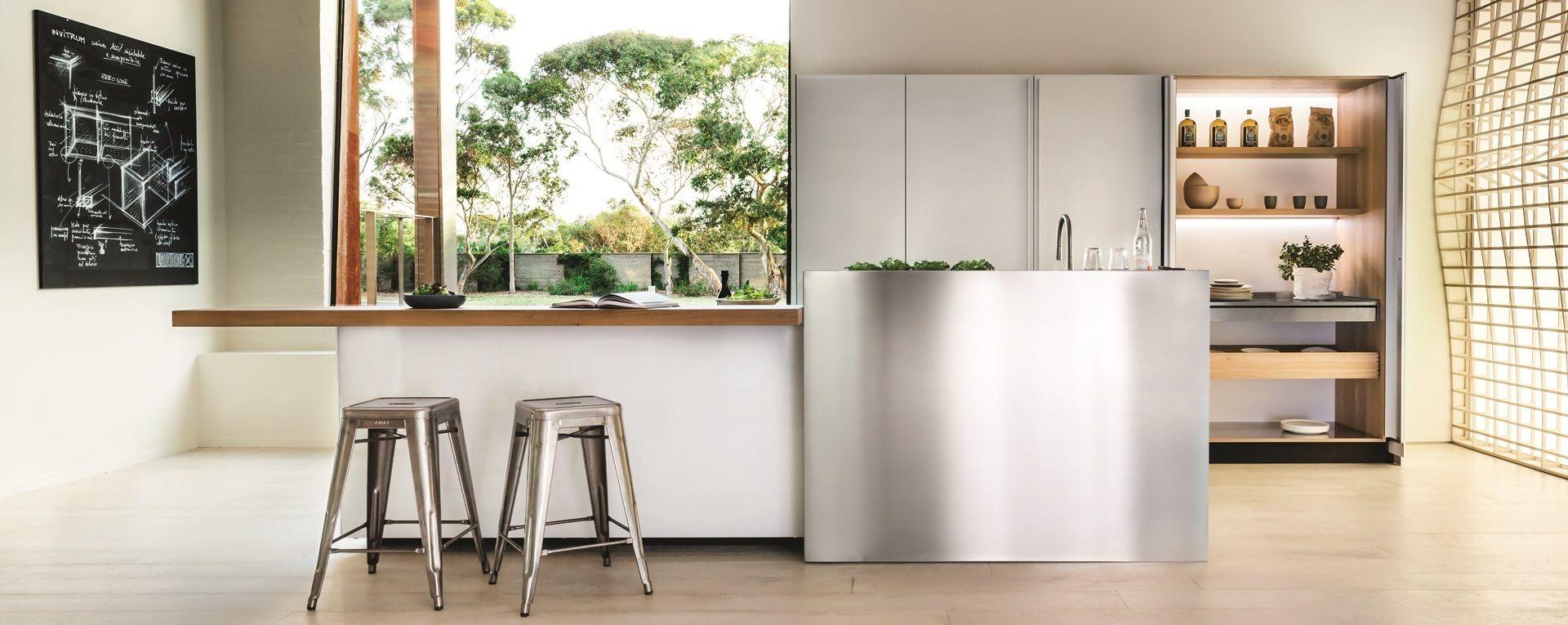 muebles cocina metálicos | Kitchen open concept | Muebles de ...