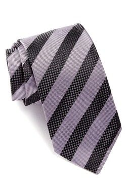 Silk Check Stripe Tie