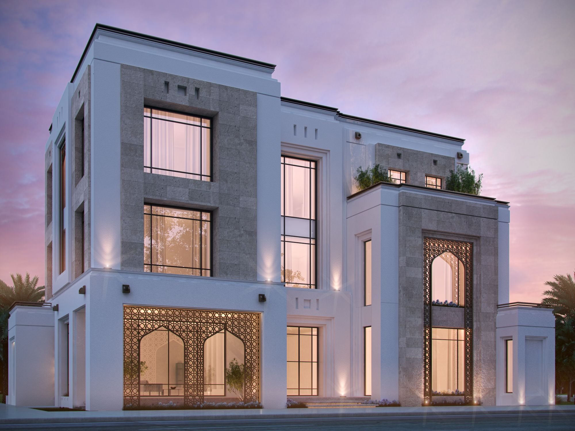 Private Villa 400 M Kuwait Sarah Sadeq Architects Mansion Designs Architecture Facade House