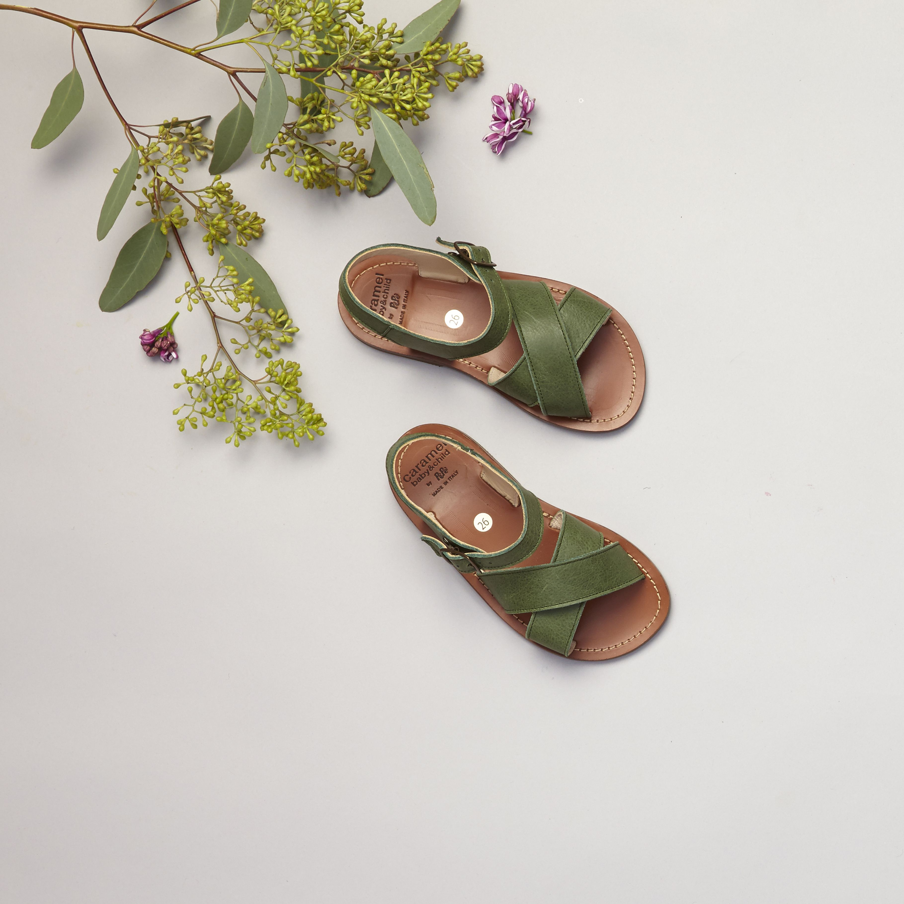 Pepe Sienna Sandal Green, Caramel Baby & Child.