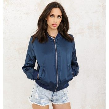 summer bomber dark blue