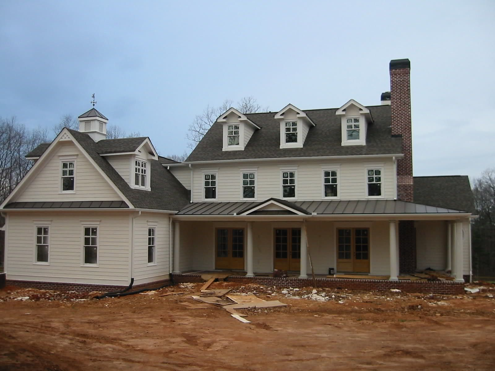 The exterior elevation that we will work towards with the New farmhouse style