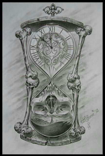 Tattoo Reloj Arena Craneo Tatuaje Reloj De Arena Reloj De Arena