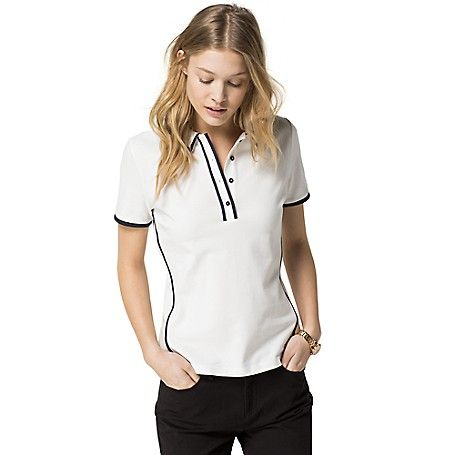 Tommy Hilfiger women s polo. A best-seller year after year-our iconic polo  in a fresh new palette. Styled in a fitted silhouette with just enough  stretch to ... 9fdc2e0c17a0a