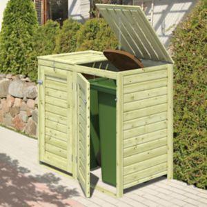 Bermejo Wooden Wheelie Bin Store Bin Store Small Patio Design Wooden Bins