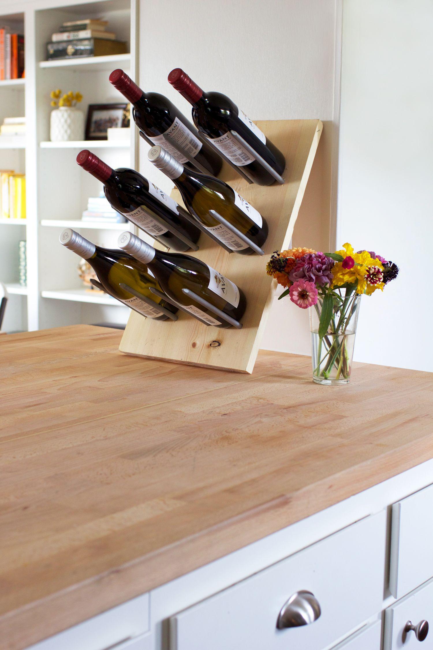 Diy Modern Wine Rack Wine Storage Diy Minimalist Diy Projects