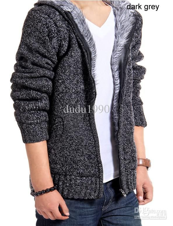 Winter Coats For Men Fur Lined Hoodie Men's Designer Fur Lined ...