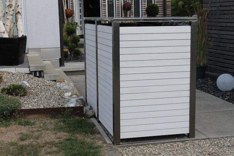Mulltonnenbox Edelstahl Mit Kunststoff Von Zaun Fackler Mulltonnenbox Edelstahl Mulltonnenbox Stahl