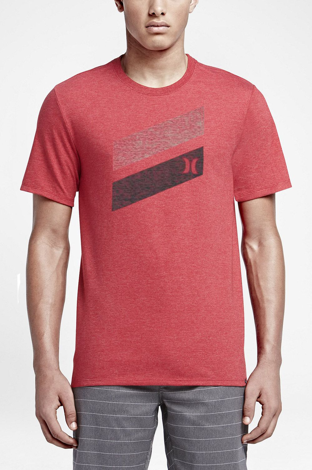 The Hurley Icon Slash Push Through Men's T-Shirt features a push-through  screen