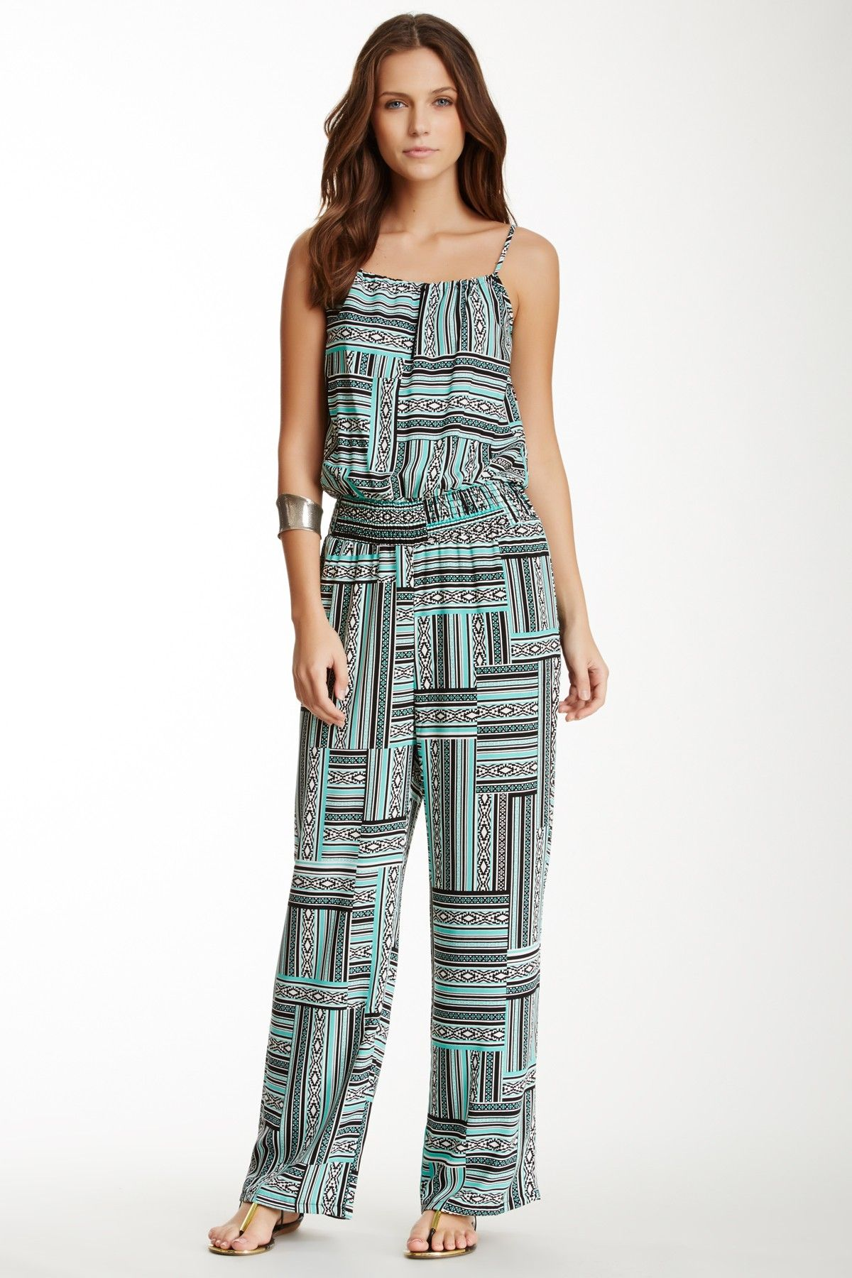 Romeo & Juliet Couture Smocked Printed Jumpsuit by Romeo & Juliet Couture on @nordstrom_rack