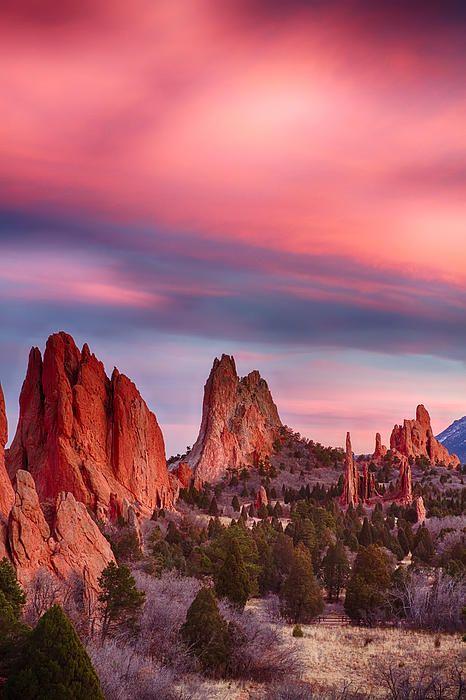 Garden Of The Gods Sunset Colorado Springs Colorado Photo By James Bo Insogna Colorado Colorado City Sunset Sky