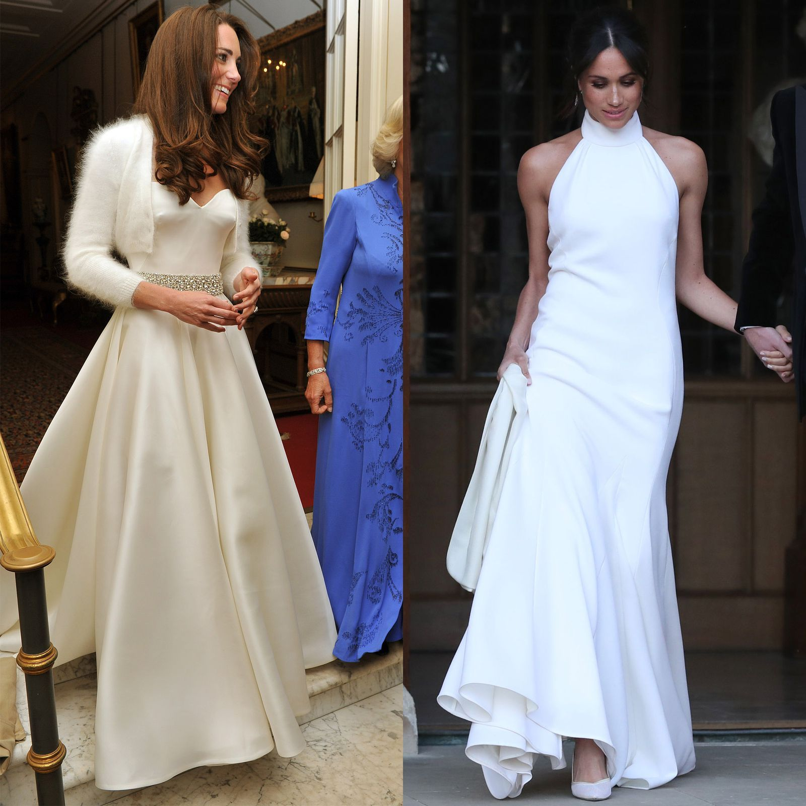 Meghan Markle S Second Wedding Dress Makes Kate S Look Like A Ceremony Gown Royal Wedding Dress Second Wedding Dresses Wedding Dresses