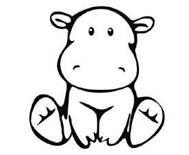 hipopotamo bebe para imprimir  Buscar con Google  Pintura