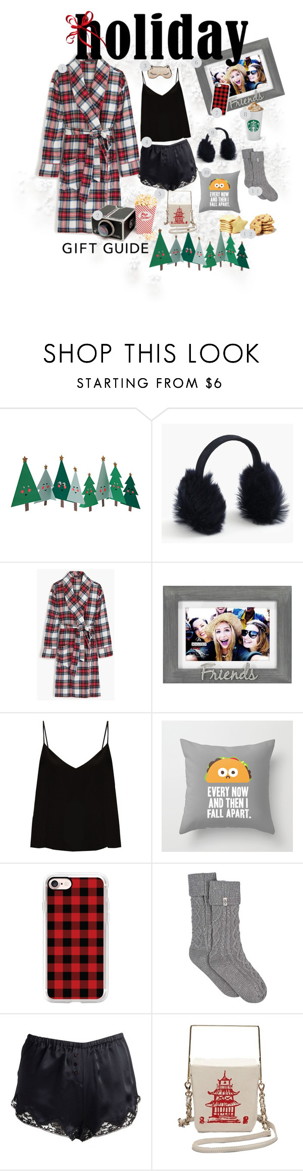 """""""12 days of Bestie Gifts"""" by sweepea ❤ liked on Polyvore featuring Meri Meri, J.Crew, Malden International Designs, Raey, Casetify, UGG and Kate Spade"""
