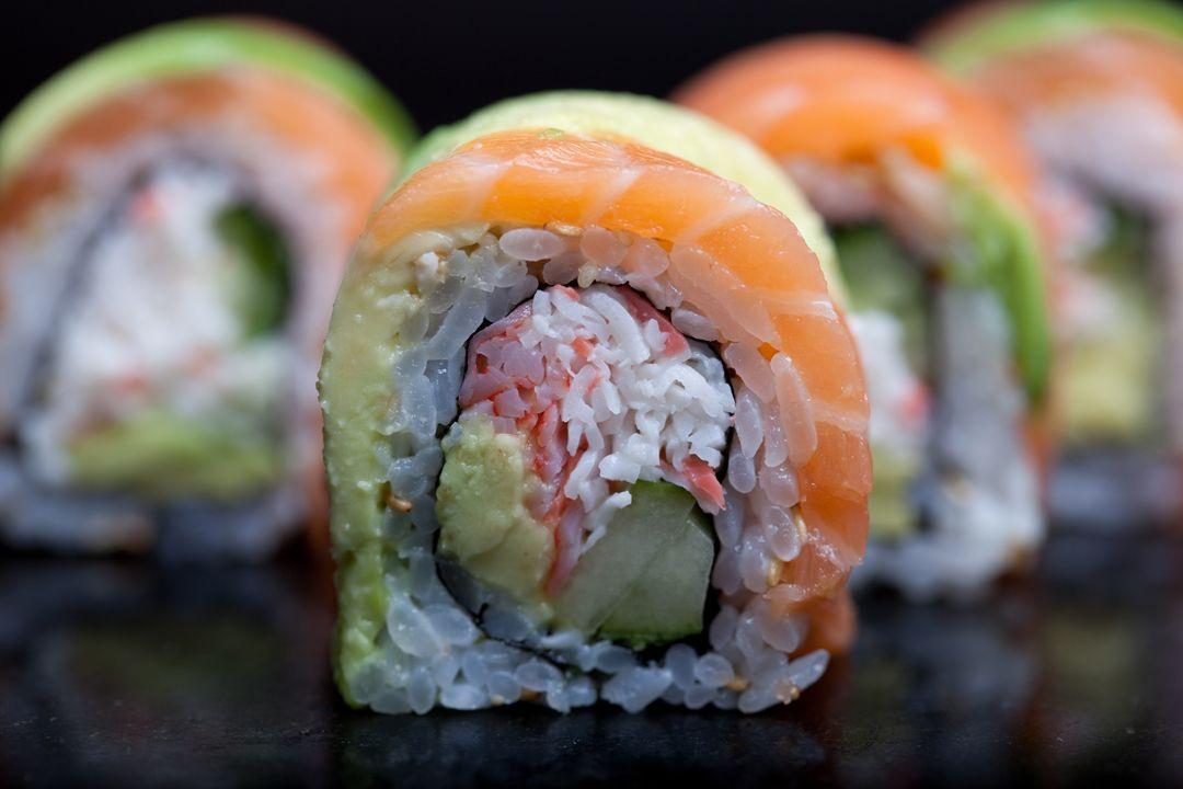 Alaskan Roll   Crab, avocado, salmon, cucumber   Benihana ...