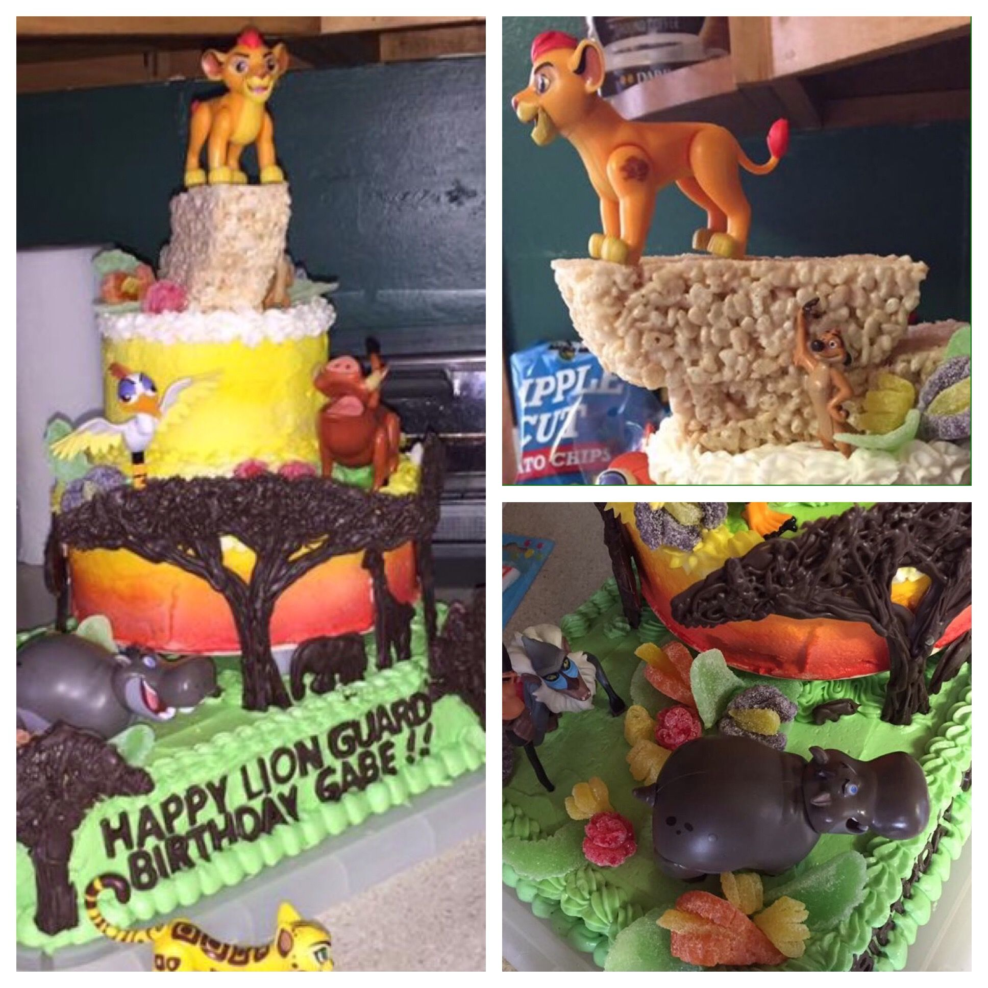 Lion Guard Birthday Cake Wilton Candy Melt Trees Food Coloring