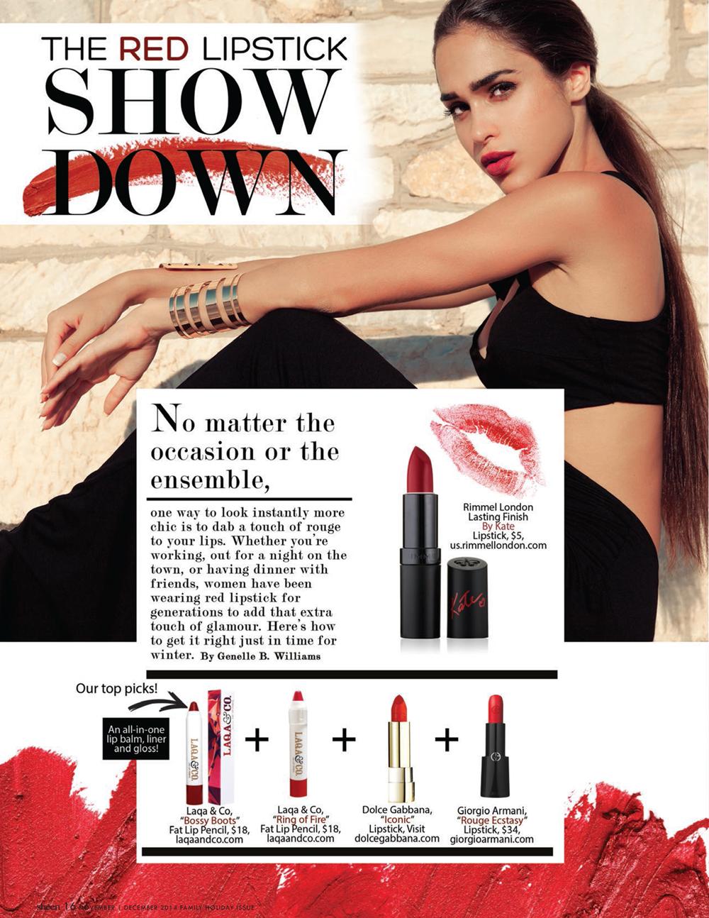 The Red Lipstick Show Down   Dolce Gabbana   Rimmel London   Giorgio Armani   LAQA & Co.