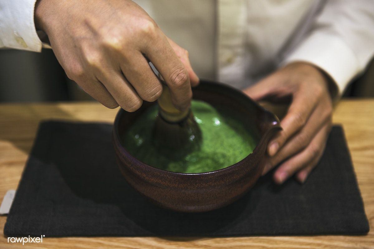 Traditional Japanese Matcha green tea free image by