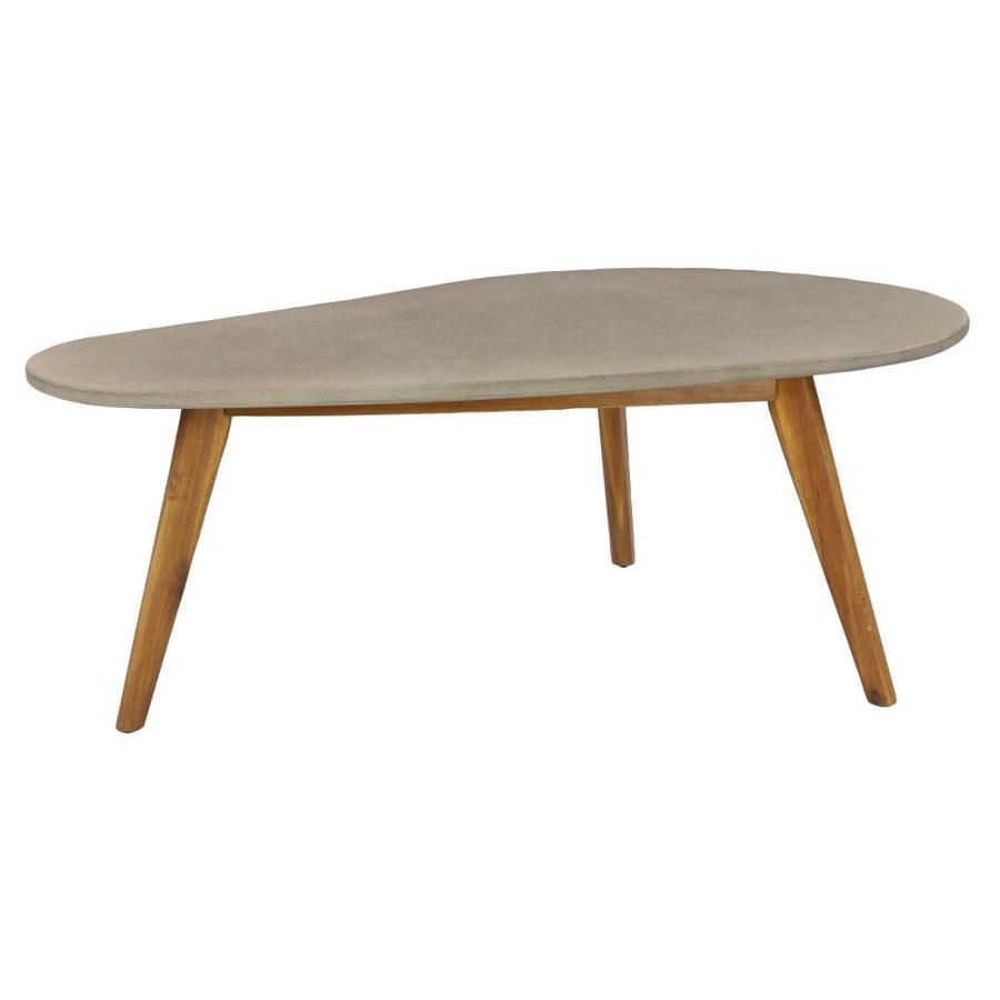 Grayson Lane 45 X 18 Small Mid Century Wood And Gray Outdoor Accent Table In Brown 77411 Outdoor Accent Table Wood Accent Table Wood End Tables [ 900 x 900 Pixel ]