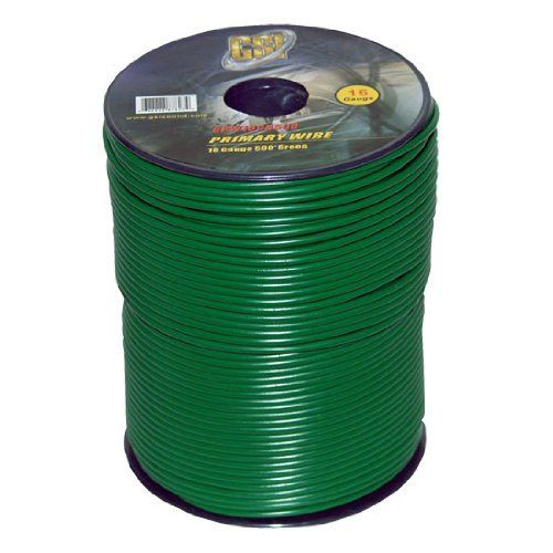Gsi Gpw16gn500 16 Gauge Primary Wire By Gsi 27 00 16 Gauge Primary Wire500 Ft Green Color Wire Gauges Electrical Wiring