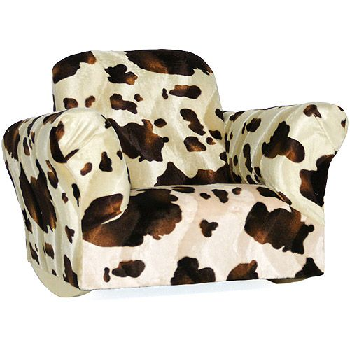 Kids Rocking Chair Pony Adorable Cow Hide Chair Walmart