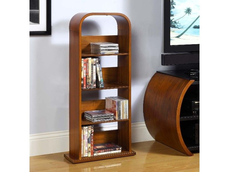 Jual Furnishings JF501 DVD Rack CD Holds Approximately 200 CDs Or 100 DVDs The Shelving Unit Is Finished In A Sumptous Real Walnut Veneer To