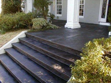 Painted Concrete Porch Floor White House Dark Stepssiteelite | Painting Exterior Concrete Steps | Wood | Cement | Behr | Curb Appeal | Coating