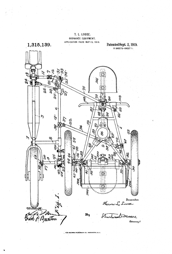 original patent drawings for vintage board track racers