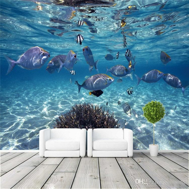 Custom Photo Wallpaper 3D Stereoscopic Underwater World