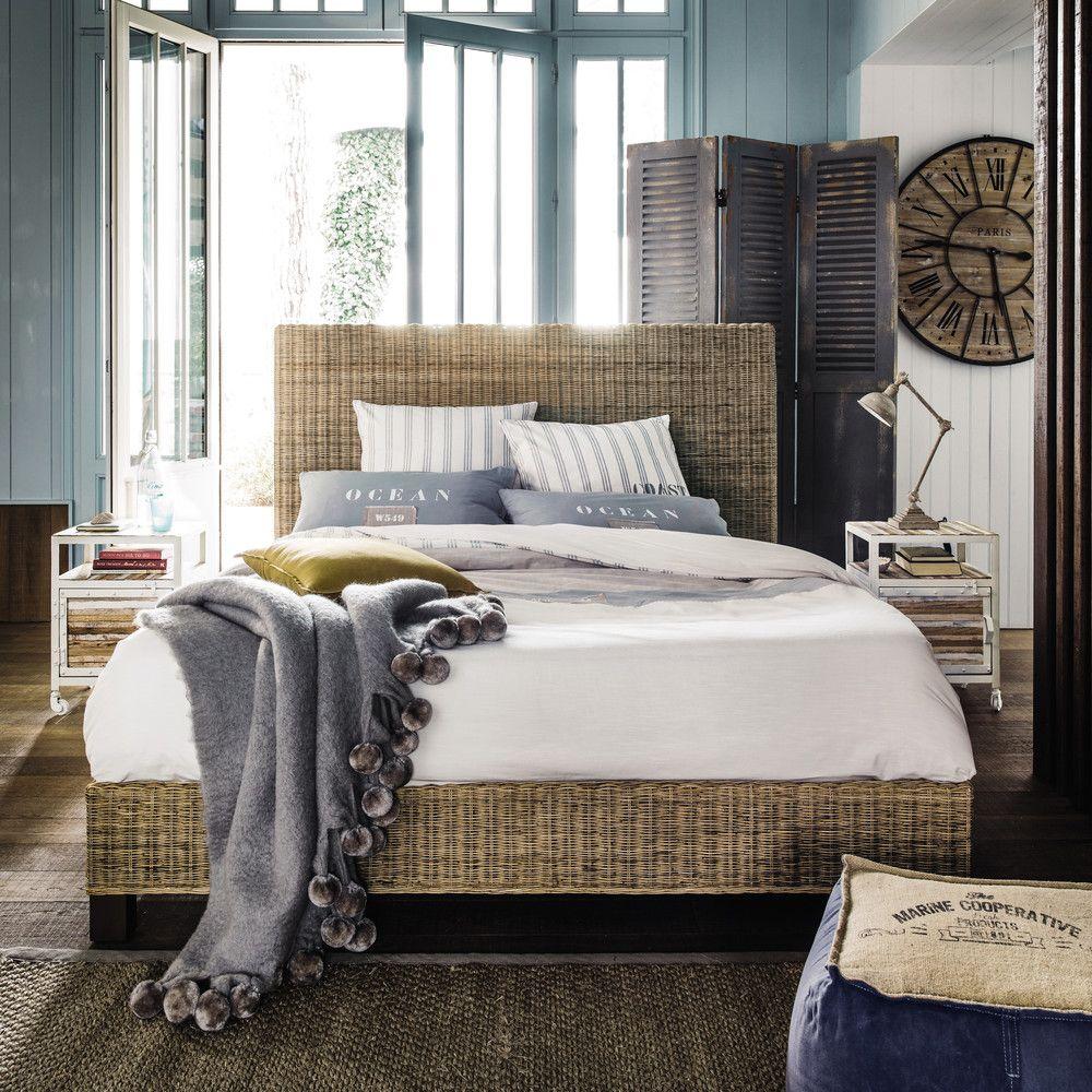 parure de lit 220 x 240 cm en coton blanche en 2019. Black Bedroom Furniture Sets. Home Design Ideas