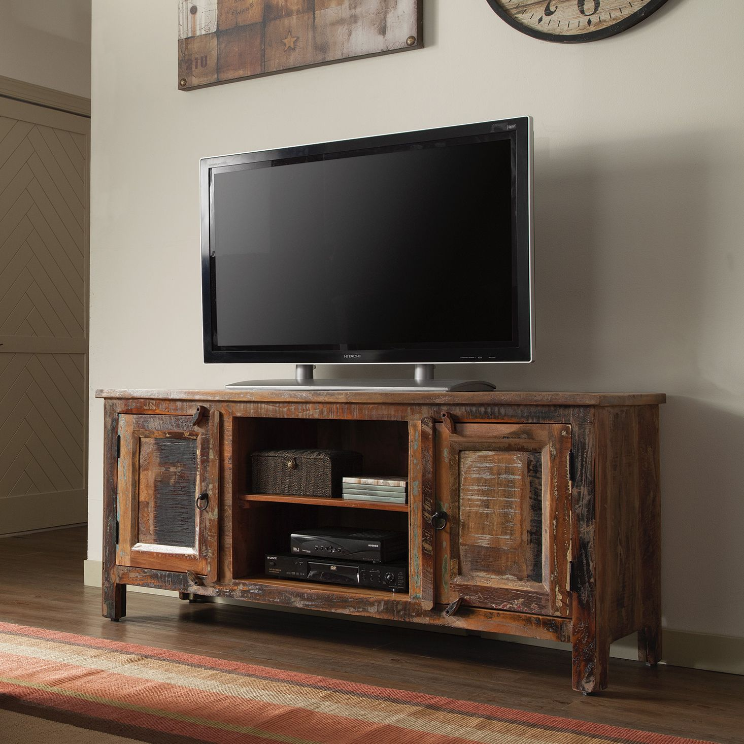 Each Piece Of This Tv Stand Is Handcrafted Resulting In One Of A Kind  Fnishes.