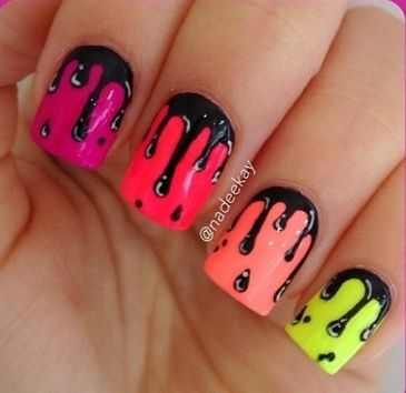 Drip Paint Nails My Nails So Pretty Pinterest Accent Nails