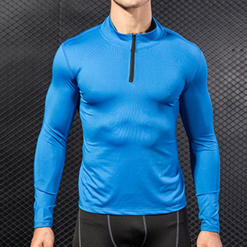 Luxsea Men T-Shirts Quick Dry Tight Long Sleeve Tops Clothes