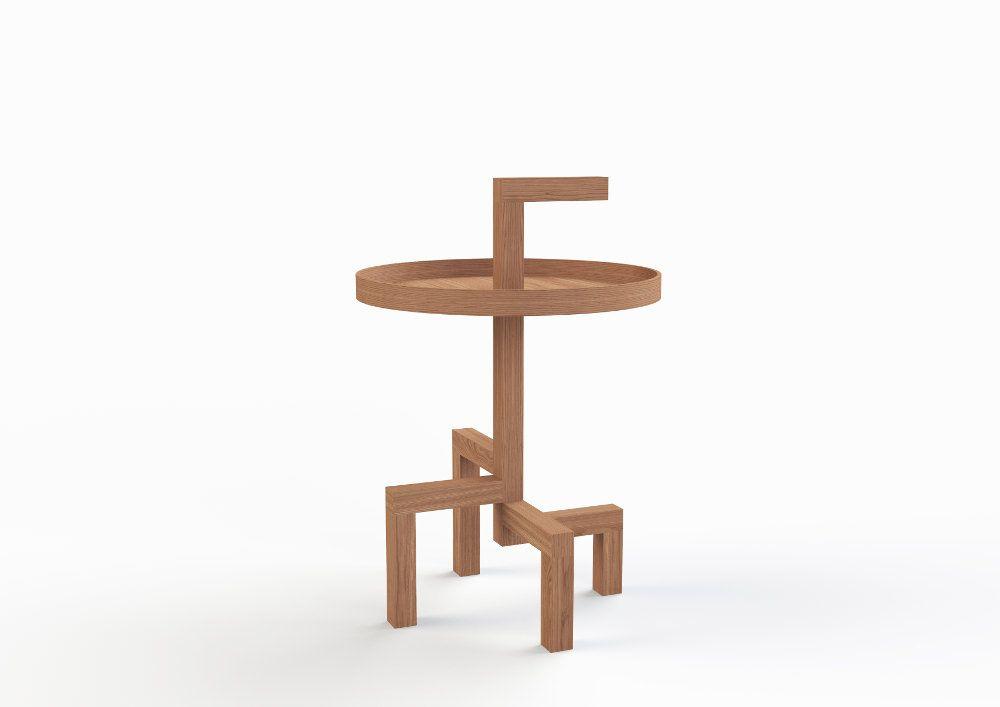 ROOTS table d\'appoint en chêne par Gerard de Hoop