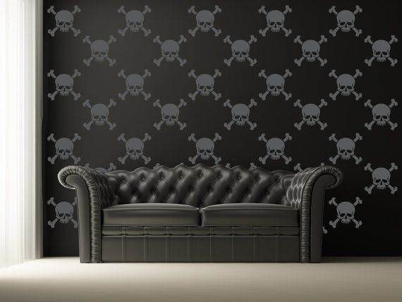 Pepper your walls with skull and crossbones decals. Punk