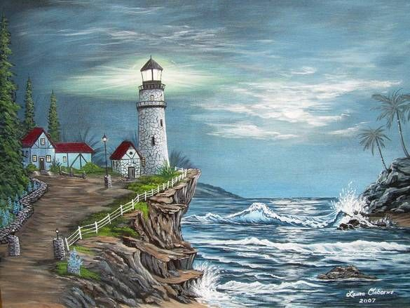The Lighthouse Painting Pictures Photos And Images From Somerset Ky Lighthouse Painting Lighthouse Art Painting