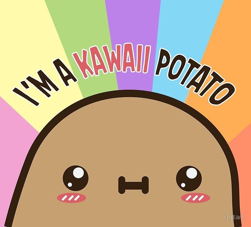 I M A Kawaii Potato Poster By Clgtart In 2021 Kawaii Potato Cute Potato Potato Drawing