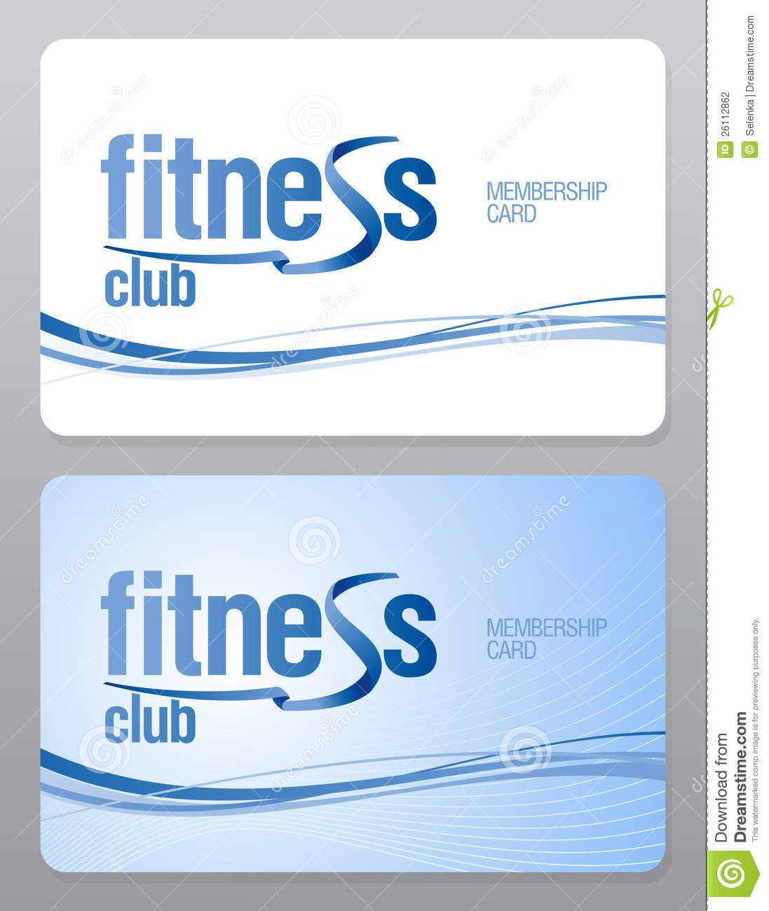 The Interesting Fitness Club Membership Card Stock Vector Illustration Of With Gym Membership Gym Membership Card Membership Card Examples Of Business Cards