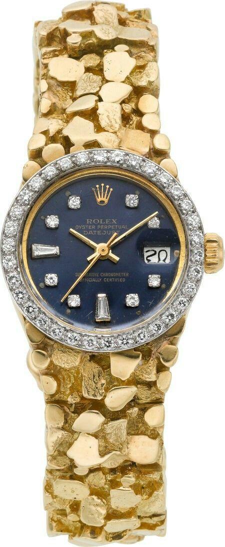 Rolex gold nugget watch #men'sjewelry