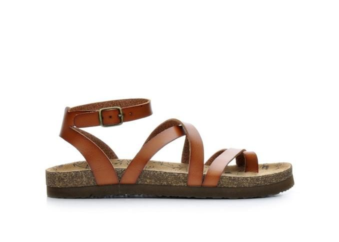 Women\u0027s Makalu Sika Footbed Sandals Cognac