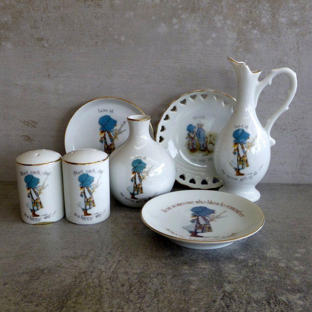 Vintage holly hobbie instant collection made in japan 1970s vintage holly hobbie instant collection made in japan 1970s porcelain blue bonnet reviewsmspy