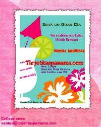 Resultado de imagen para tarjetas de cumpleaños infantil hawaiano