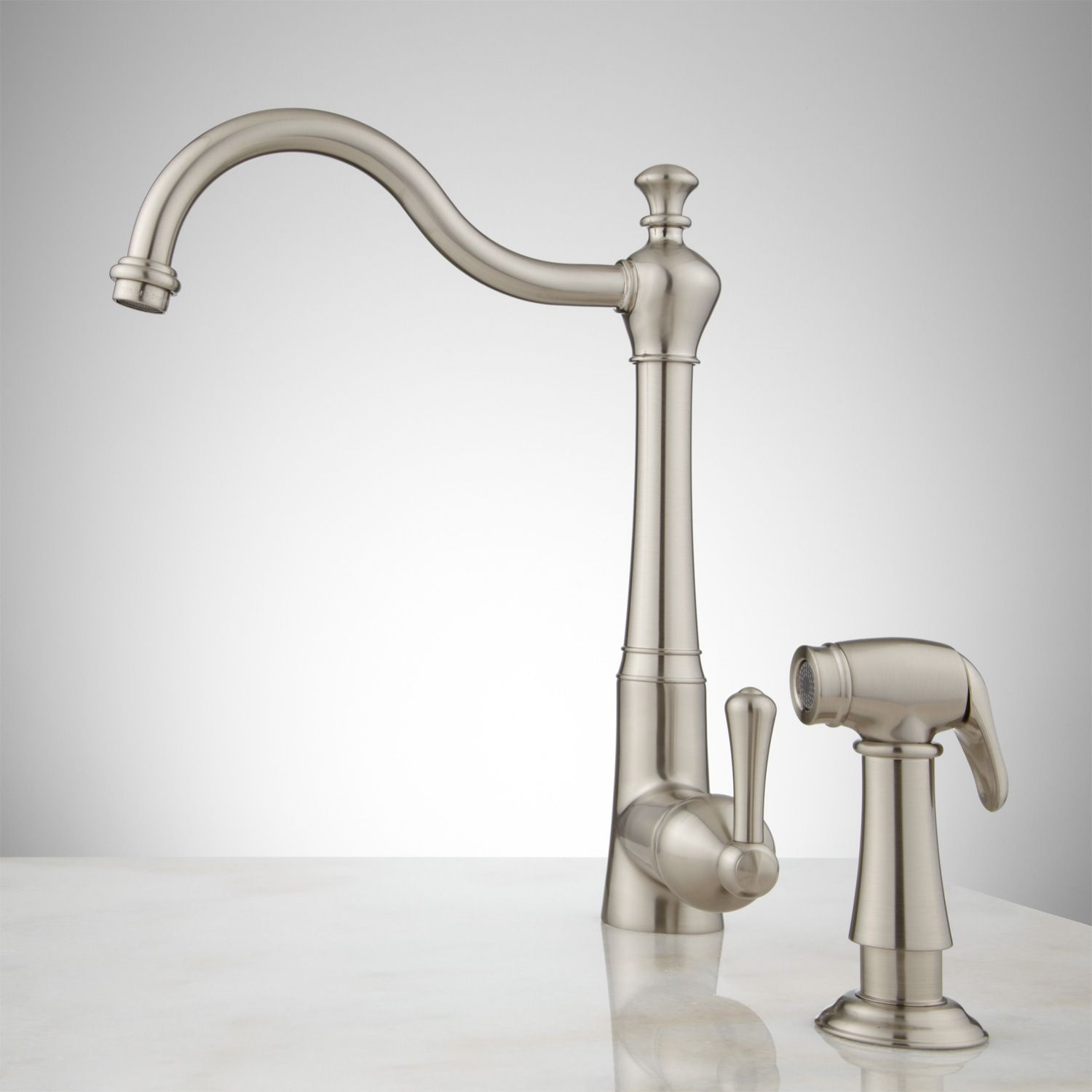Sonoma Kitchen Faucet with Handspray   Signature Hardware