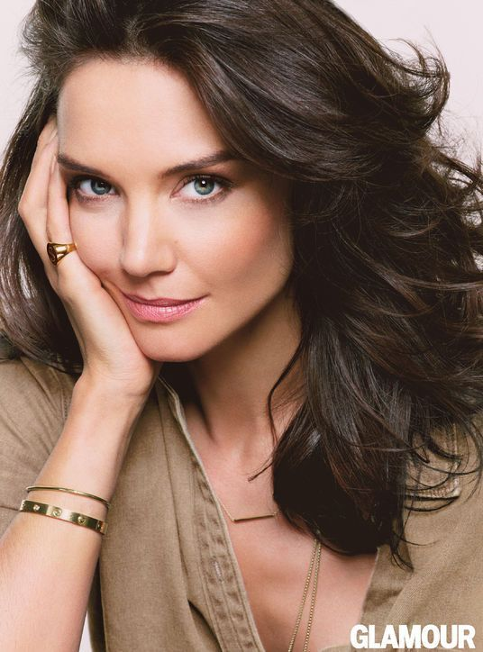Katie Holmes' August Glamour Cover-Shoot