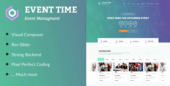 Event Time - Conference & Event WordPress Theme   Event website ...