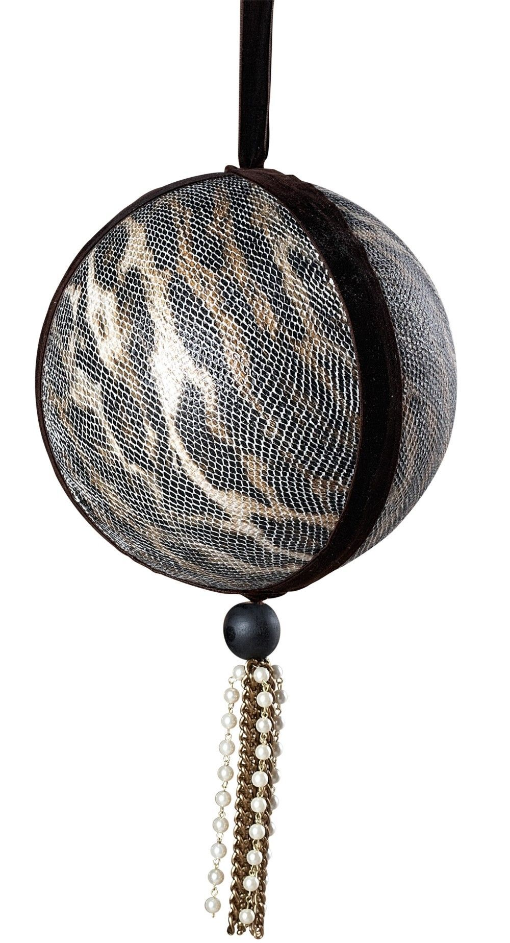 Voyager Faux Snakeskin Ball Ornament (Set of 6)