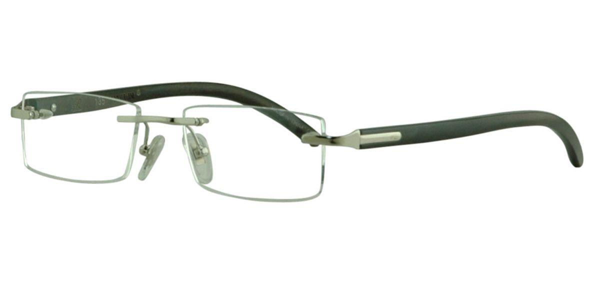Viborg Silver Eyeglasses $29.00. Rectangular   Unisex   Rimless   Metal   Business - Size:49-18-135. 100% Money Back Guarantee, Global Eyeglasses