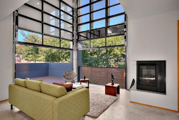 garage style patio doors