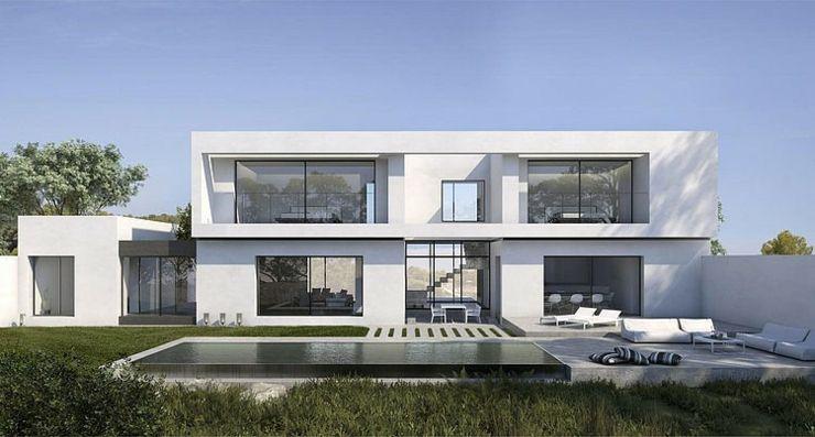 Maison d\u0027architecte sous le soleil du beau sud espagnole Alicante